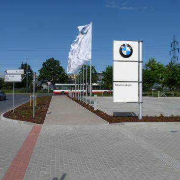 Zahradní úpravy areálu BMW Praha Prosek
