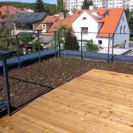 Střešní zahrada, Praha Troja