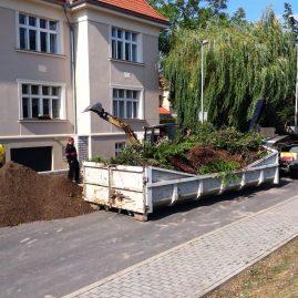 Zahrada rodinného domu Praha 6